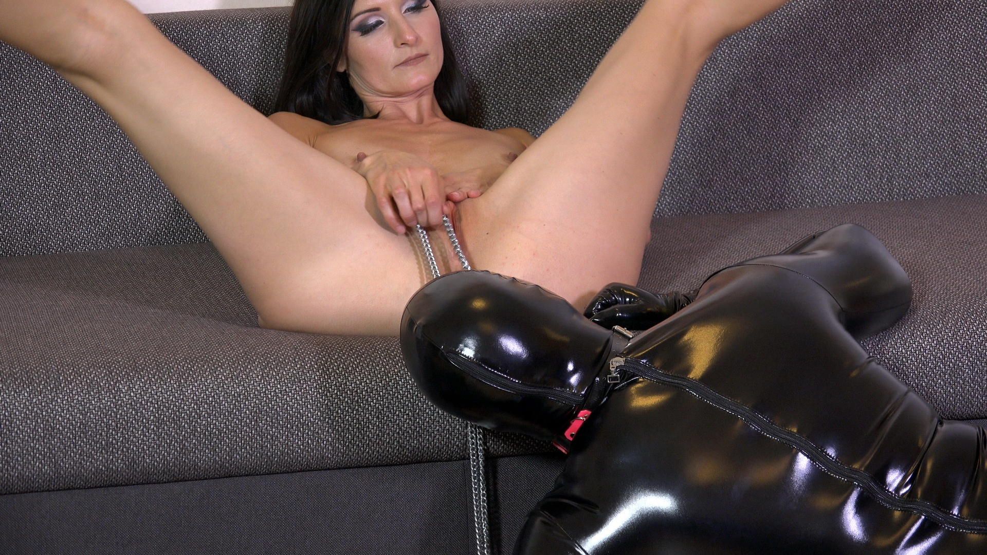 Little latex slave